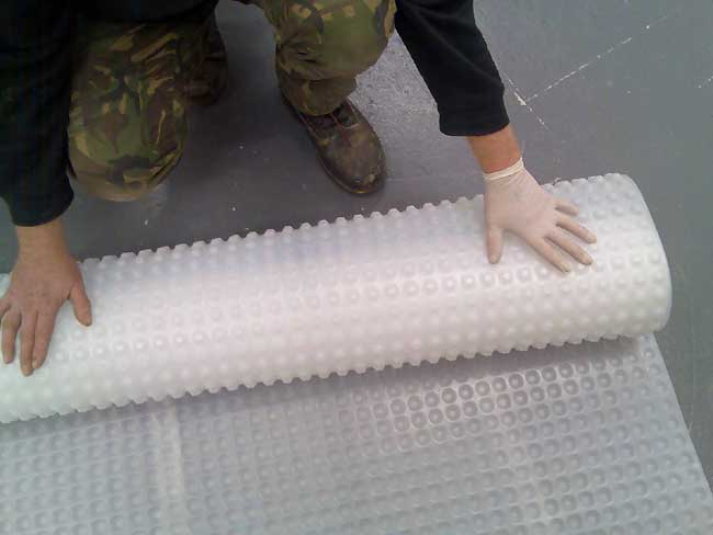 Fitting Kontract Membrane to a floor - no  fixings needed